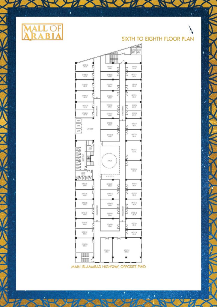 Mall of Arabia 6 to 8th Floor Offices Floor Plan