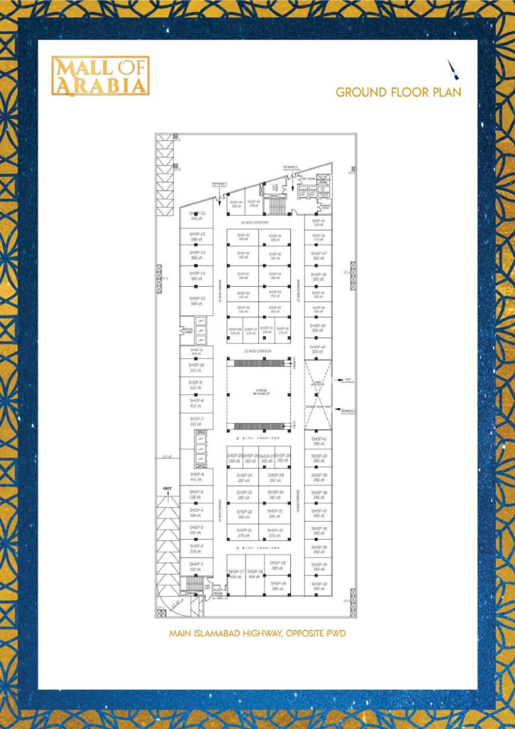 Mall of Arabia Ground Floor Shops Plan