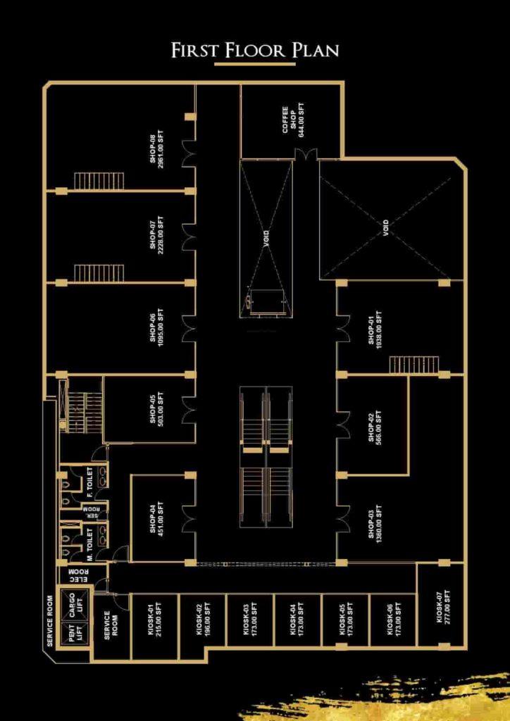 V 8 1st Floor Plan