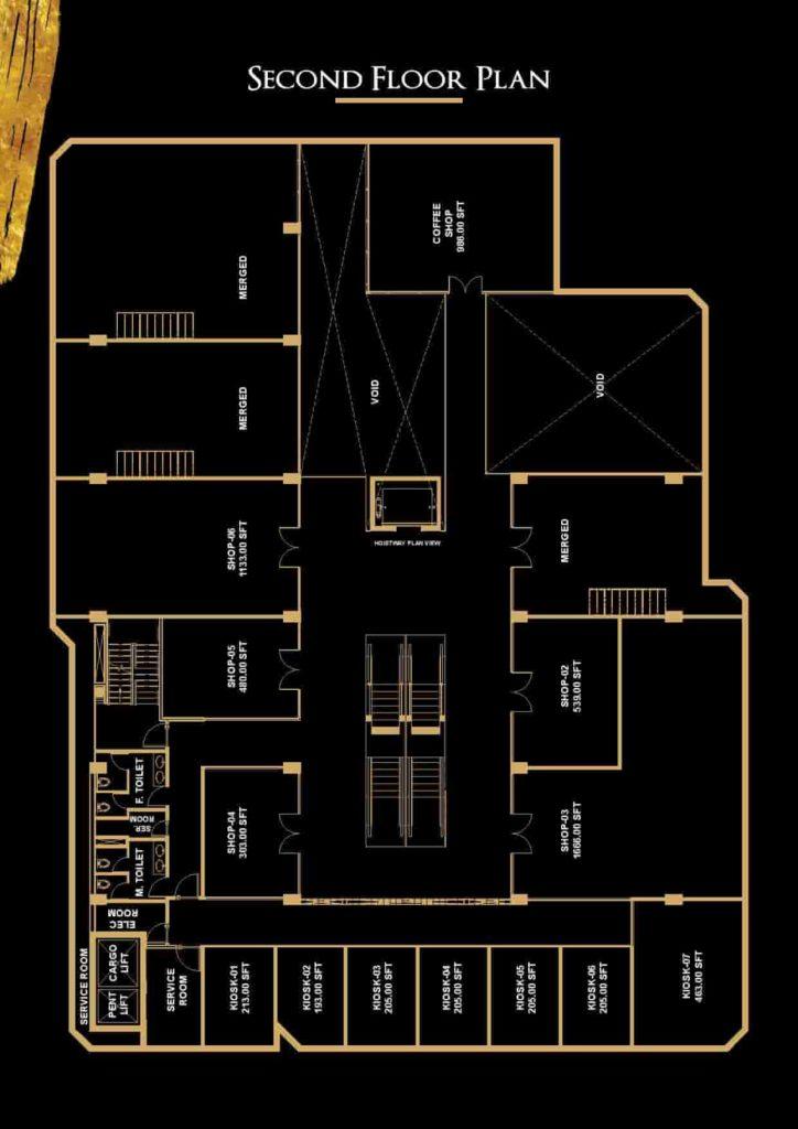 V 8 2nd Floor Plan