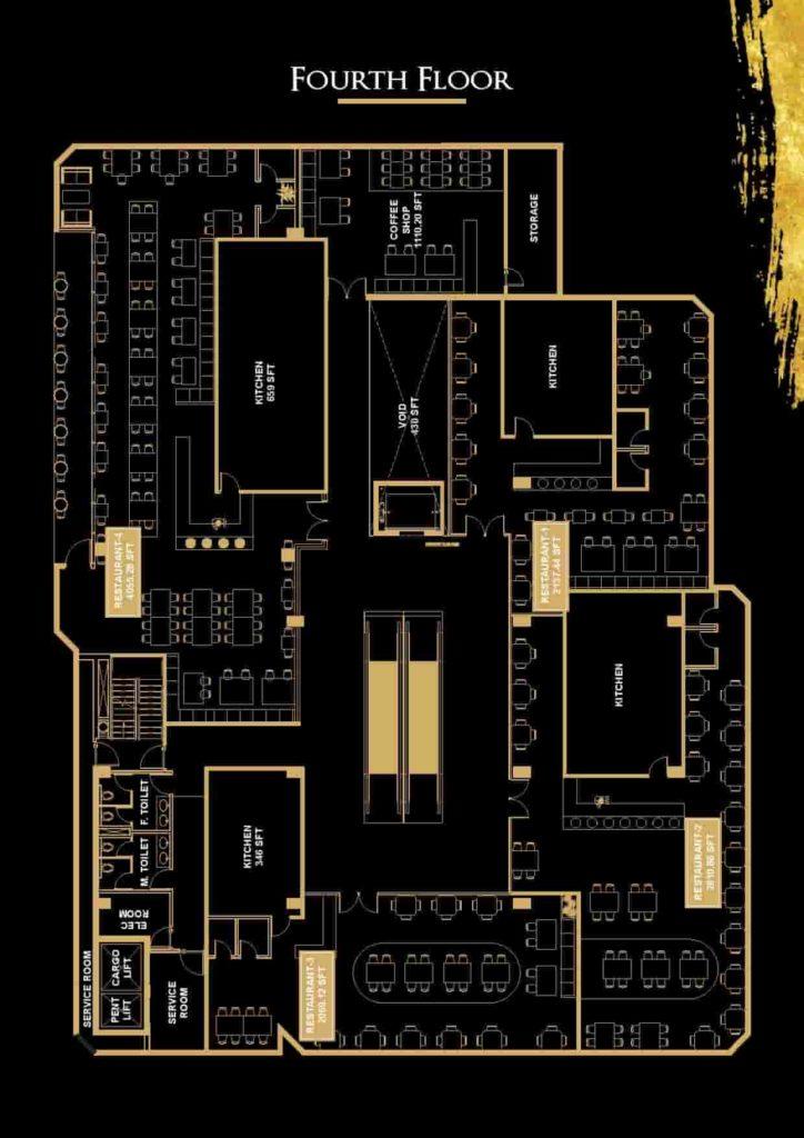 V 8 4th Floor Plan