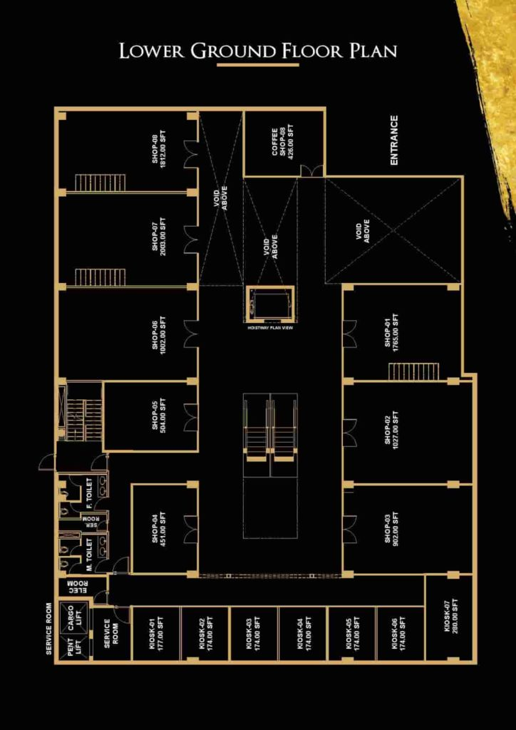 V 8 Lower Ground Floor Plan