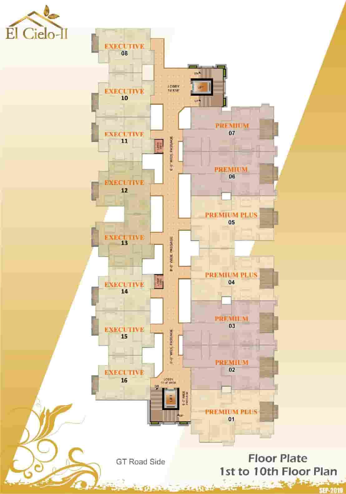 El Cielo-II 1st to 10th Floor Plan
