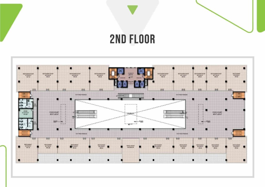 Skypark One 2nd Floor Plan