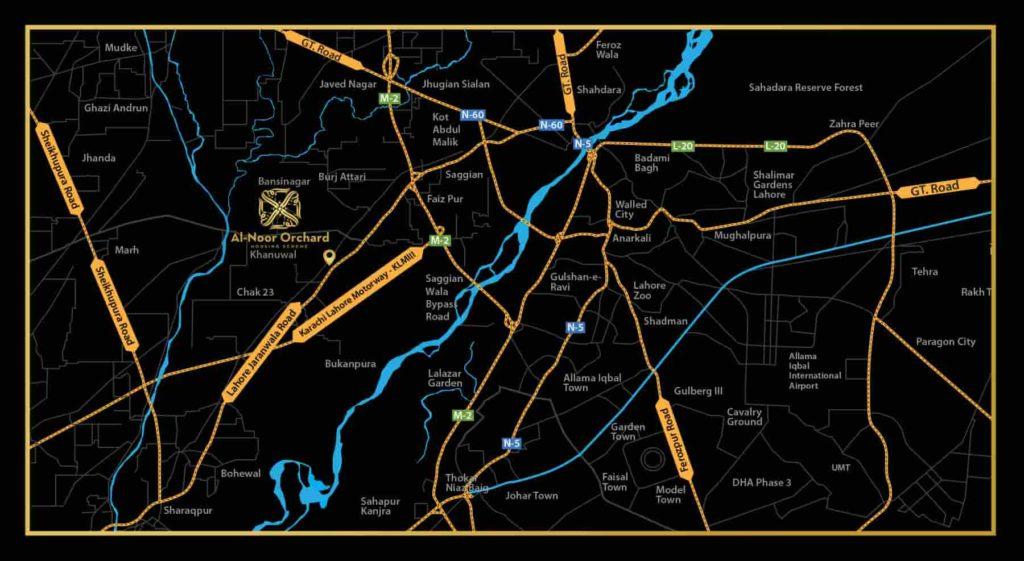 Al Noor Orchard Location Map