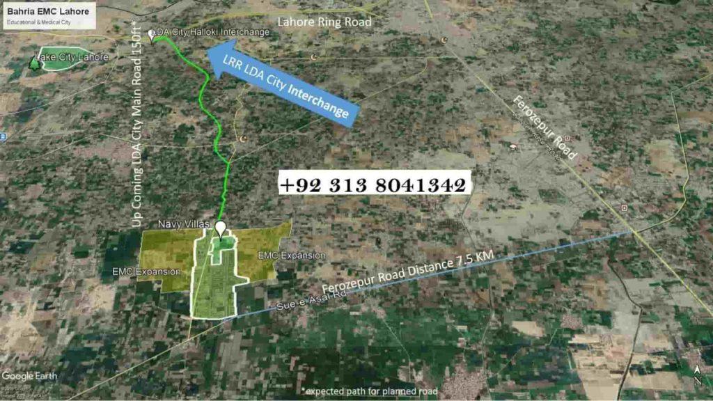 Bahria-EMC-Location-Map-Google-Earth