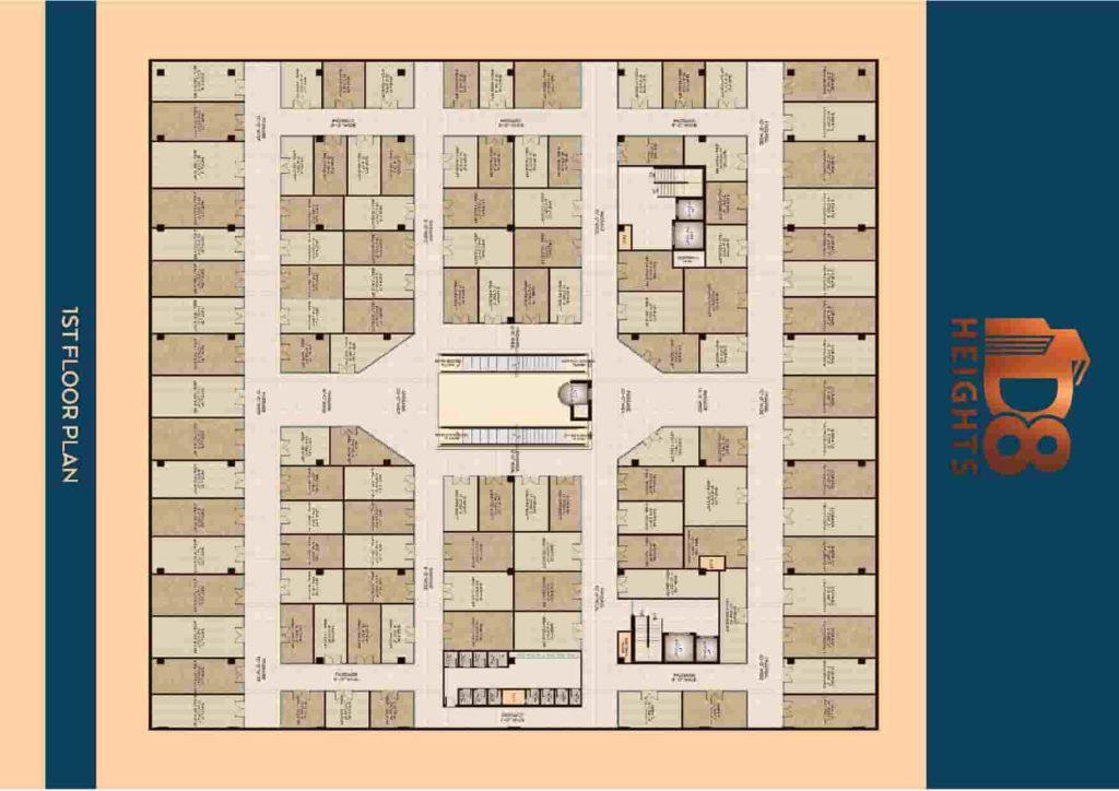 D8 Heights 1st Floor Plan