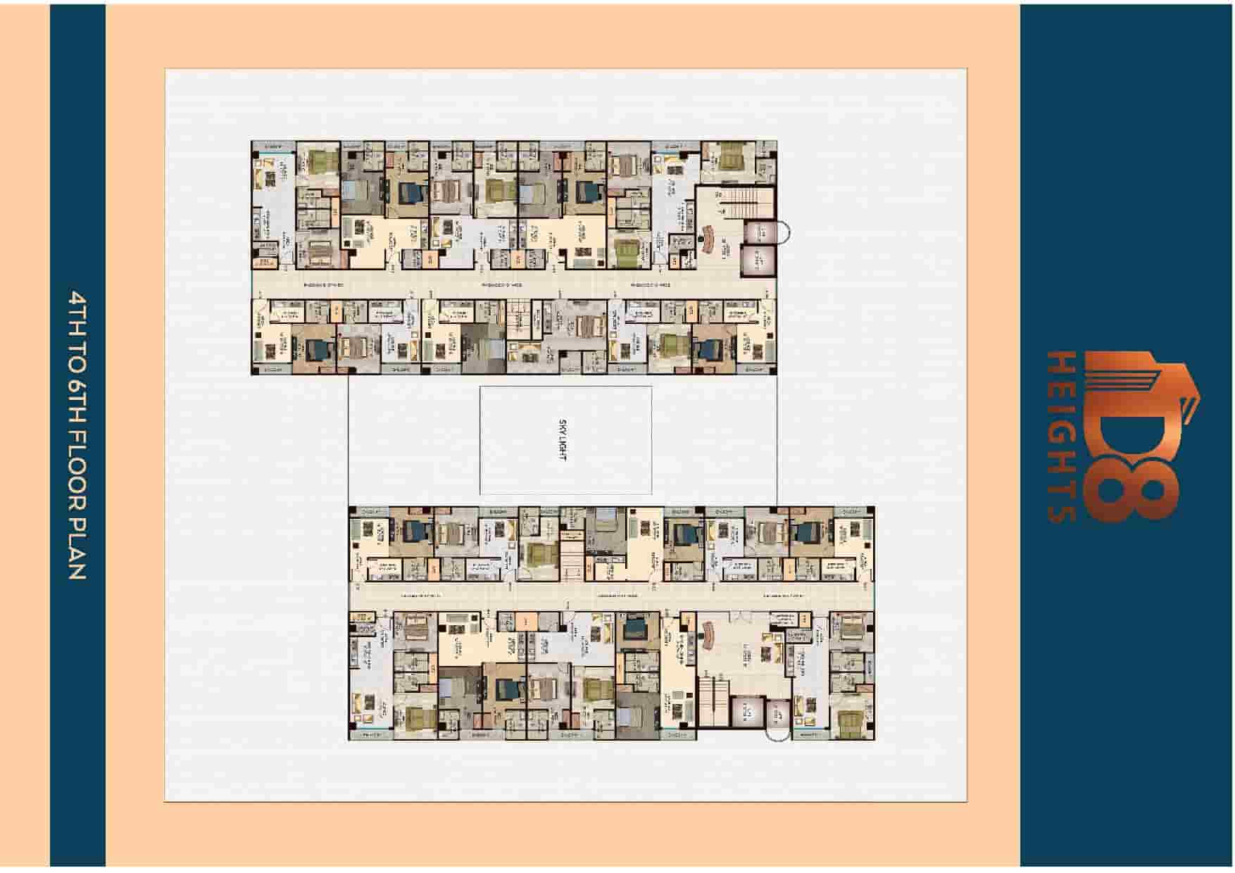 D8 Heights 4th to 6th Floor Plan