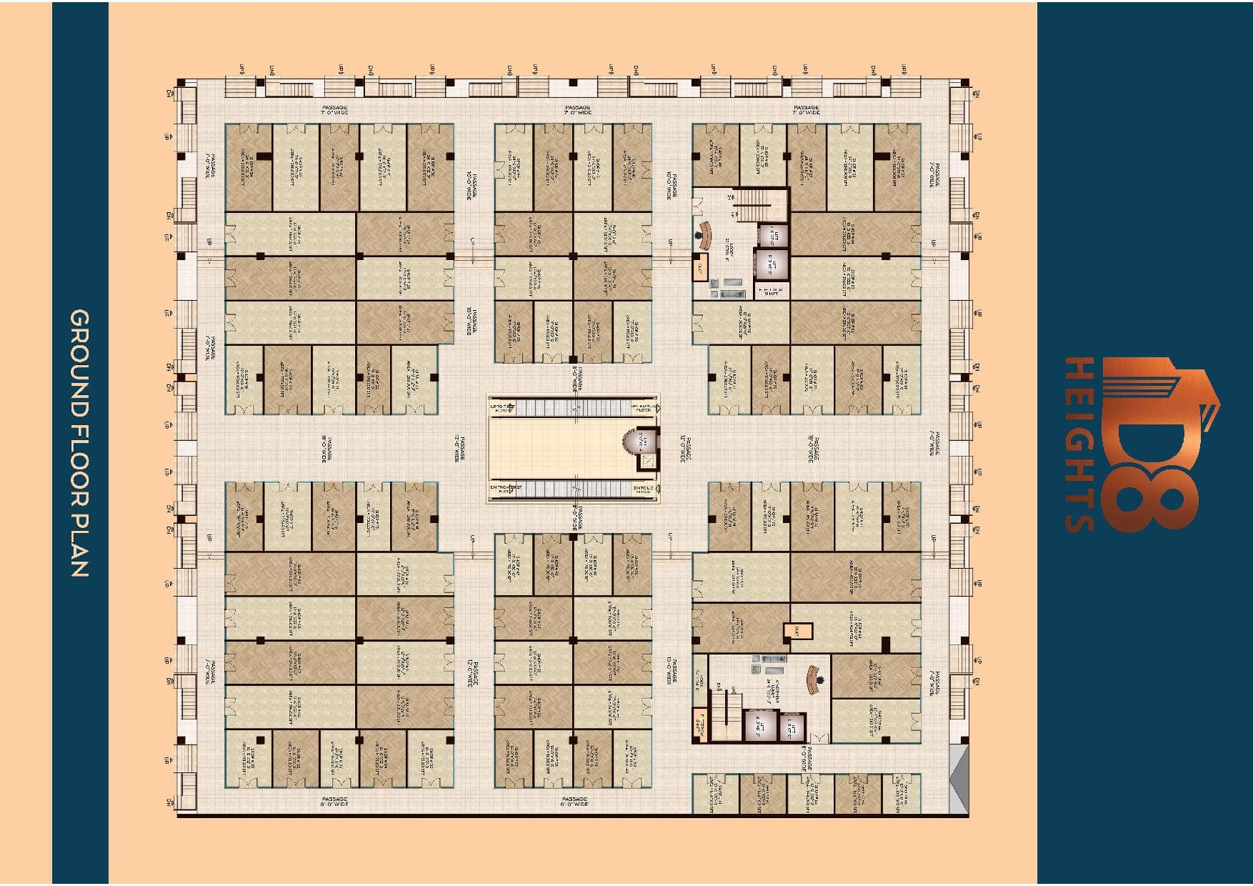 D8 Heights Ground Floor Plan