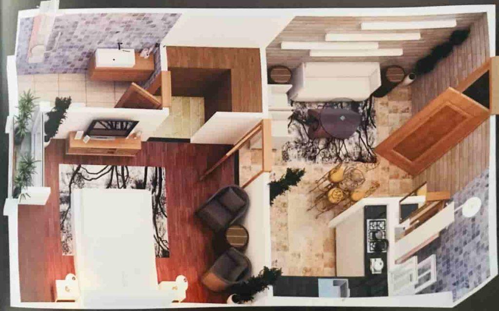 Grande River Hills 1 Bed Layout Plan