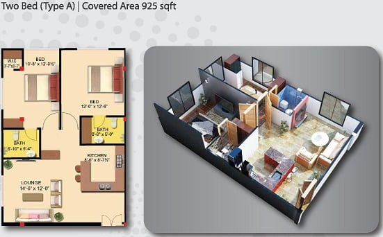 Gulberg Empire 2 Bed Apartment Type A