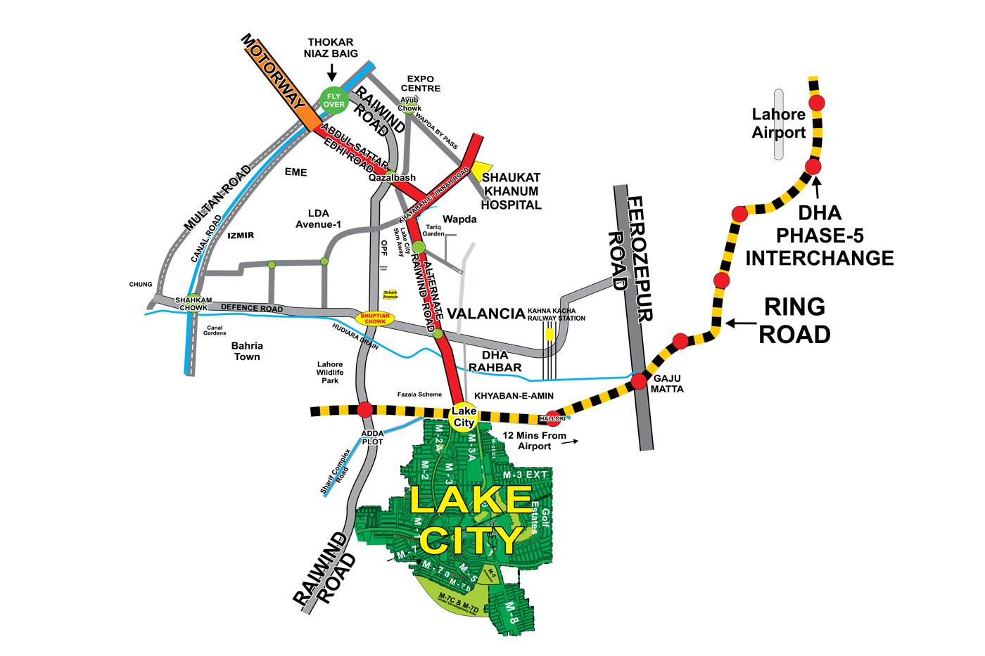 Lake City Location Map