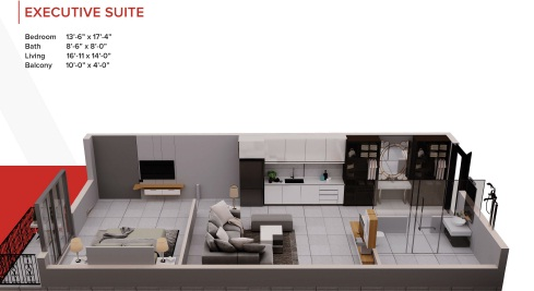 Zameen Ace Mall Executive Suite Layout
