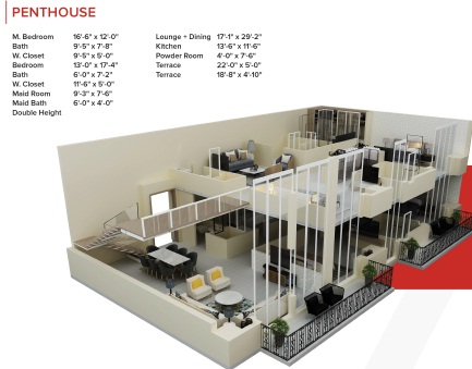 Zameen Ace Mall Penthouse Layout