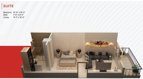 Zameen Ace Mall Suite Layout