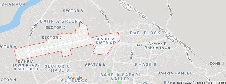 Bahria Town Business District Map