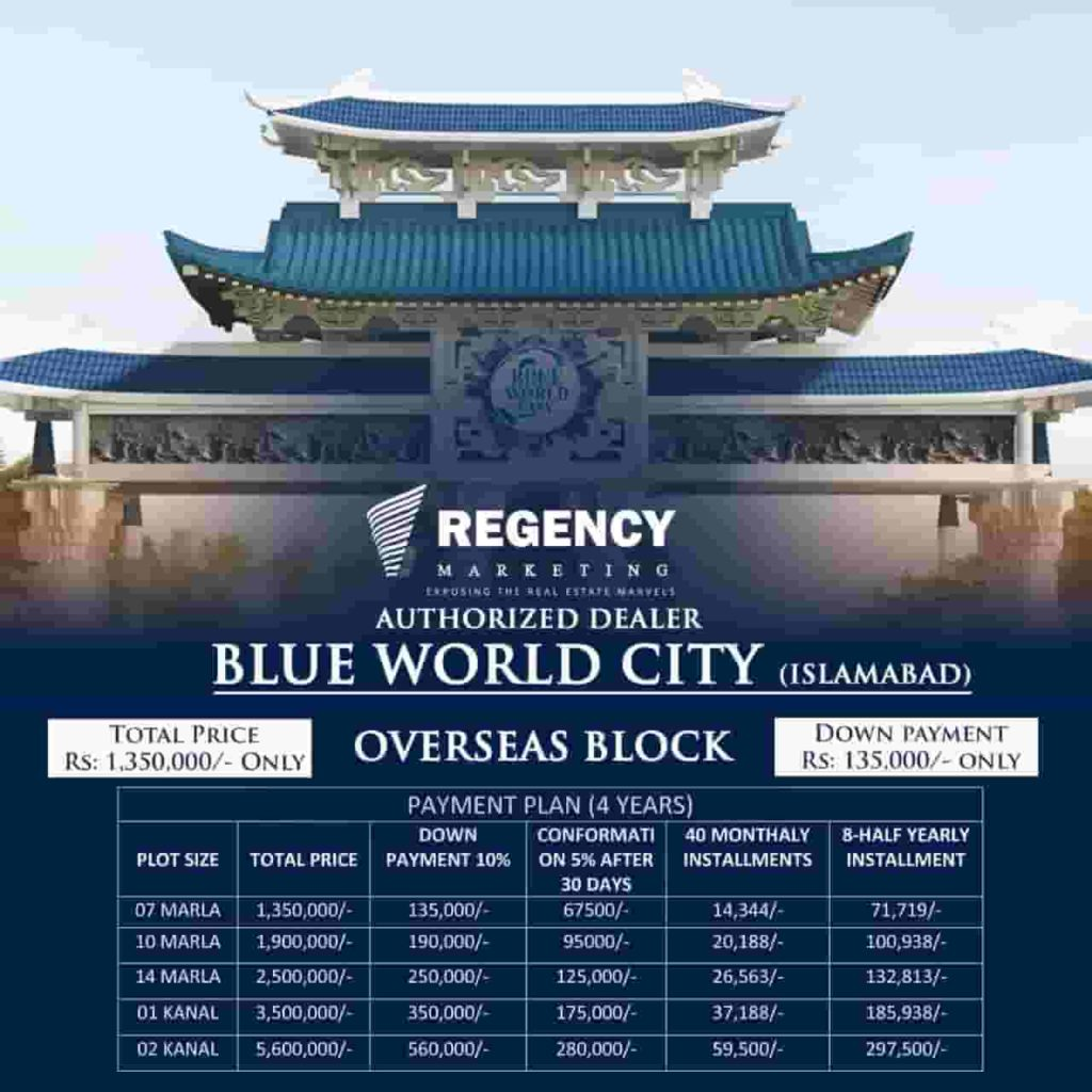 Blue World City Overseas Block Residntial