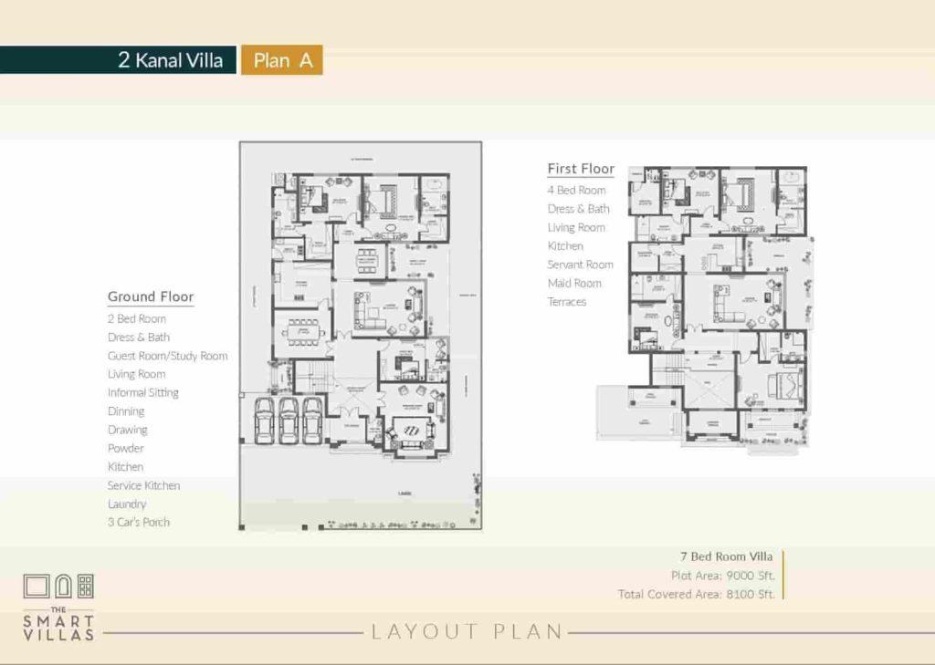 Capital Smart 2 Kanal Villa Plan A