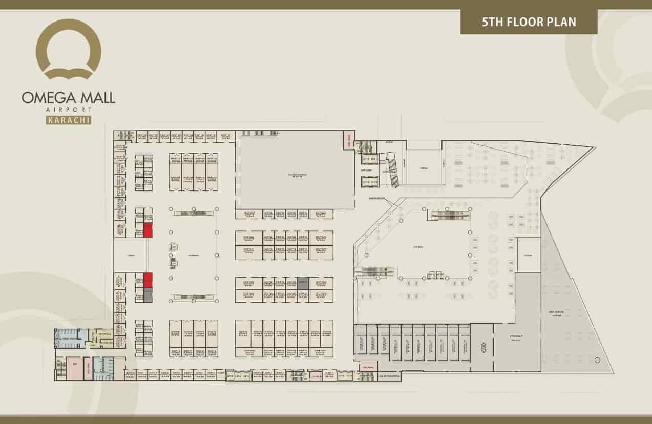 Omega Mall 5th Floor Plan