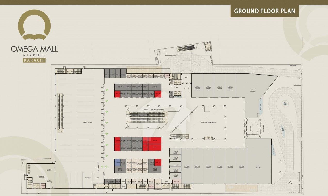 Omega Mall Ground Floor Plan