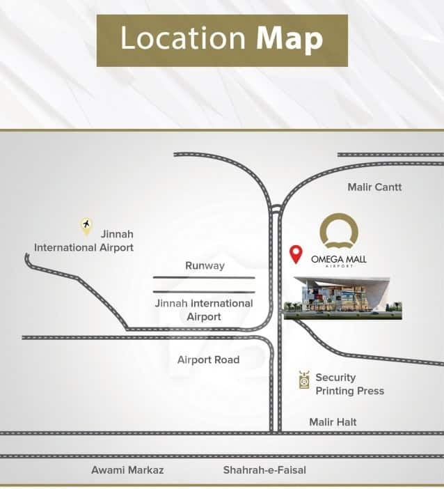 Omega Mall Location Map