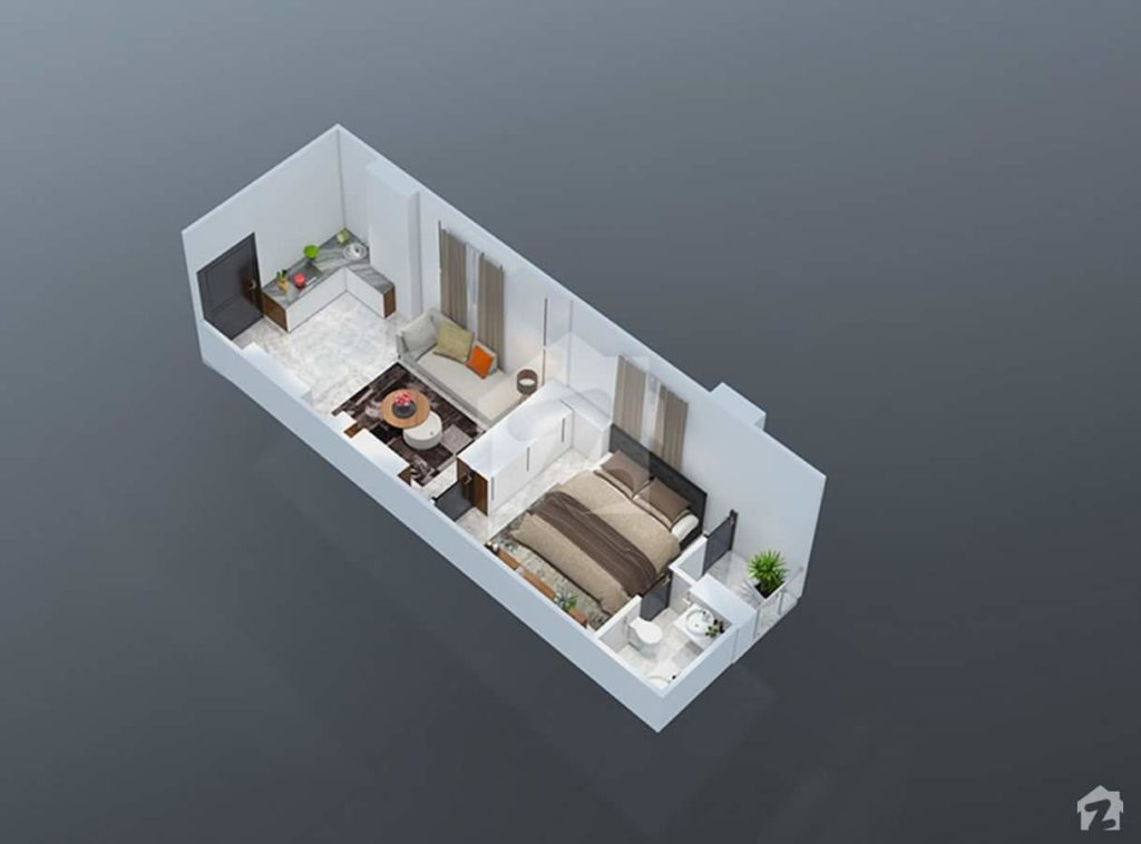 Park Vista 1 Bed Plan
