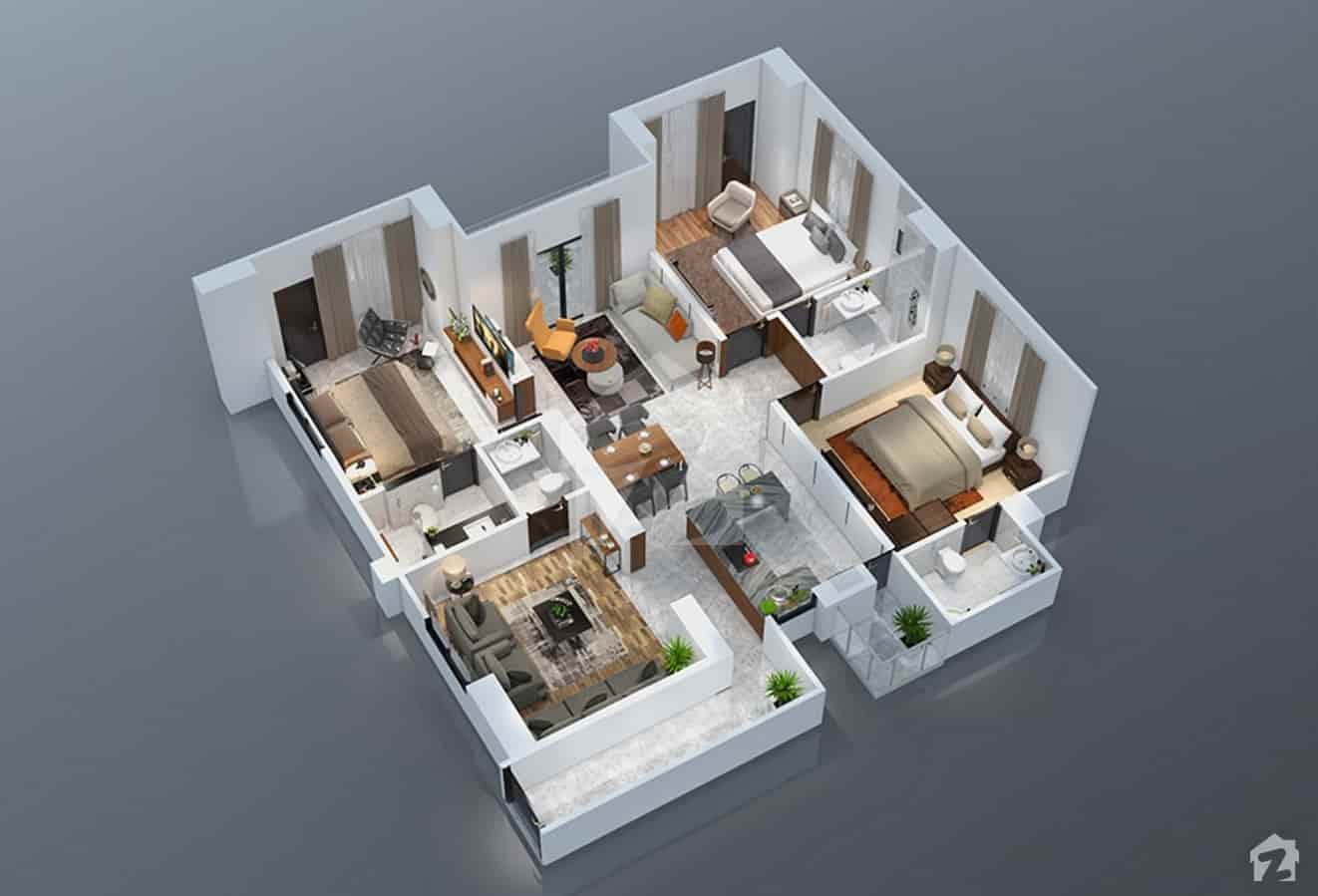Park Vista 3 Bed Plan