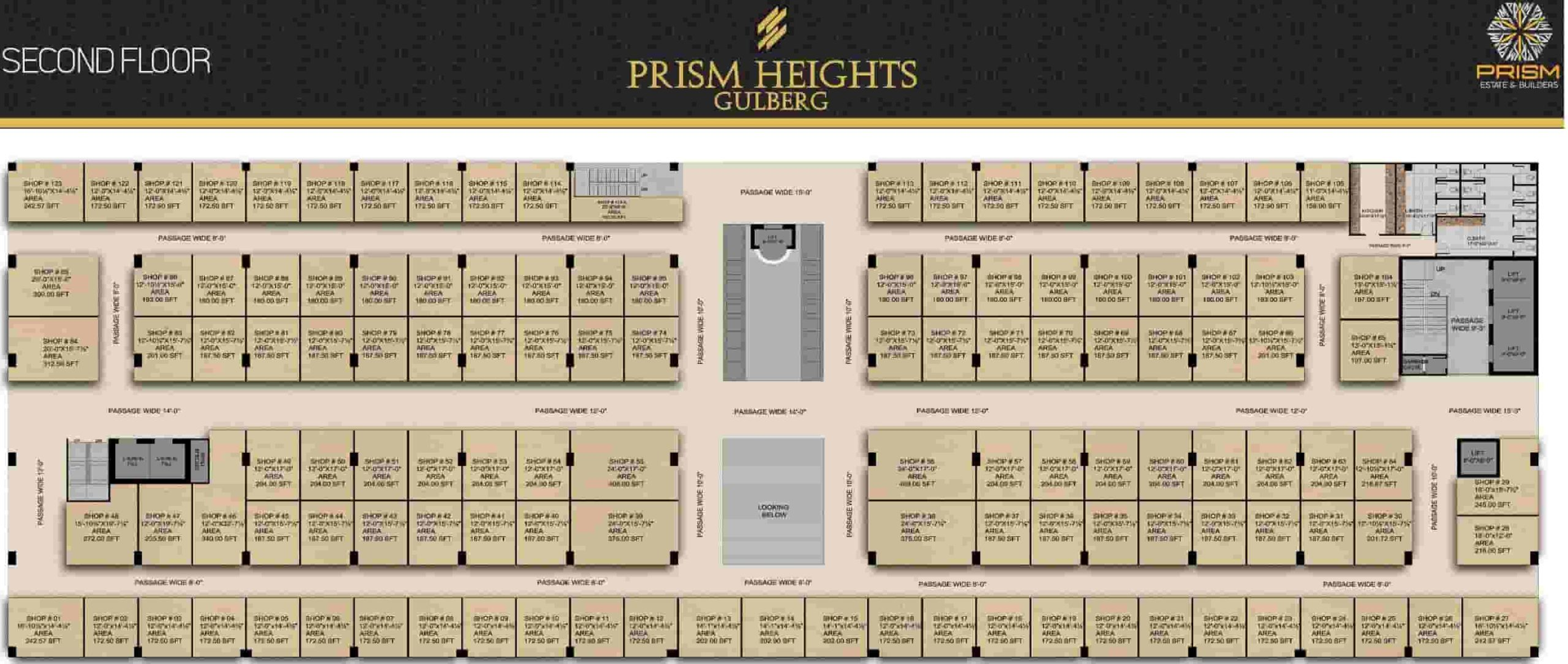 Prism Heights 2nd Floor Plan