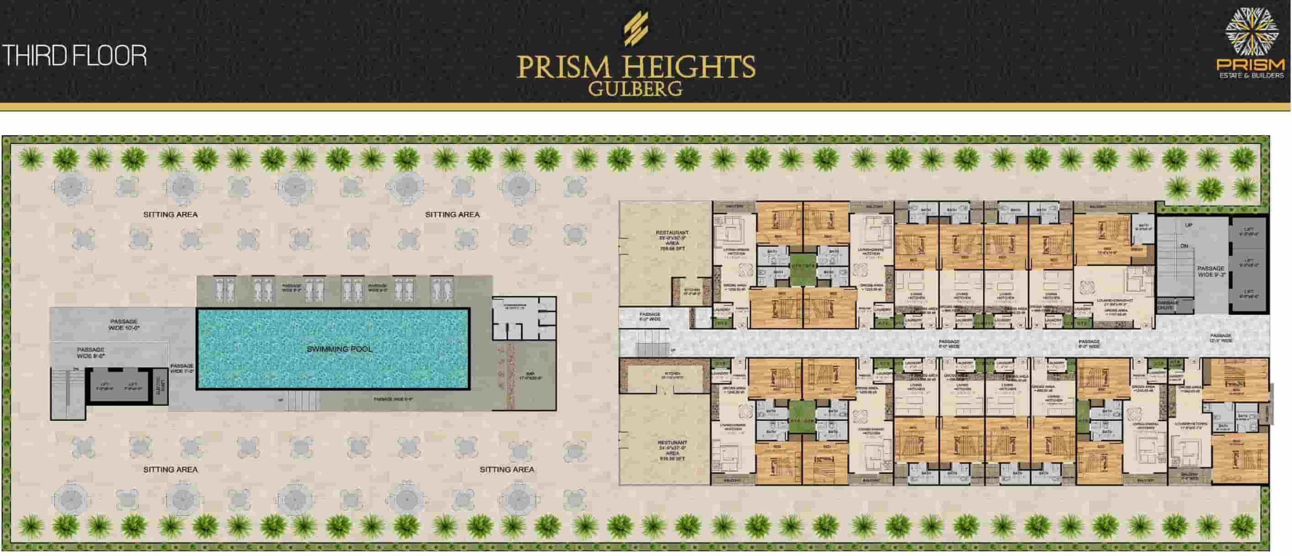 Prism Heights 3rd Floor Plan