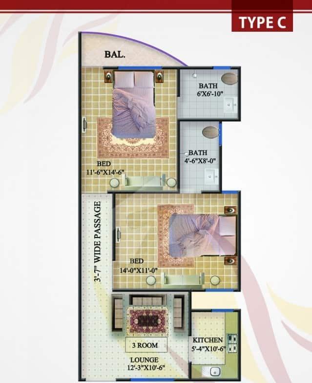 Rabia Enclave Type C Plan