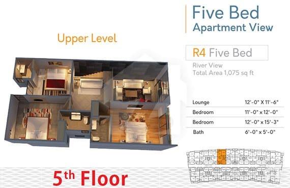 River Walk 5 Bed R-4 Upper Level Layout