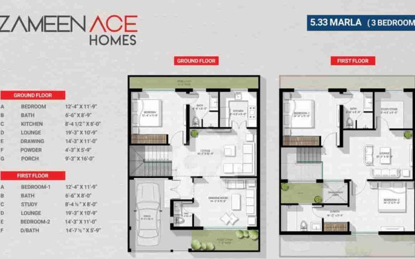 Zameen Ace Homes Islamabad 5 Marla 3 Bed House
