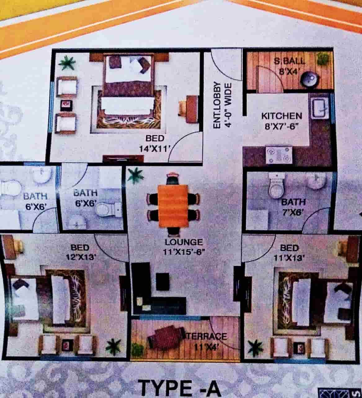 Aimal Tower Karachi Type A Layout