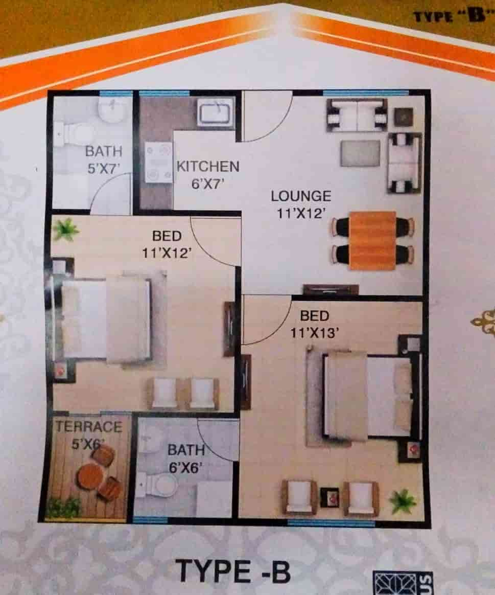 Aimal Tower Karachi Type B Layout
