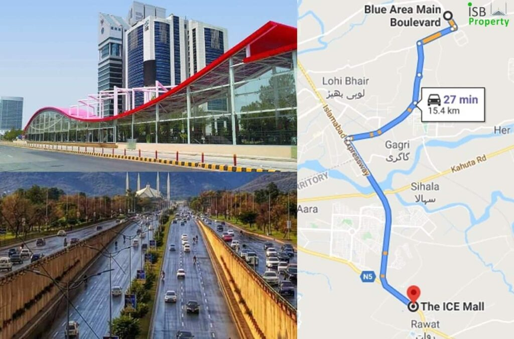Ice Mall to Blue Area