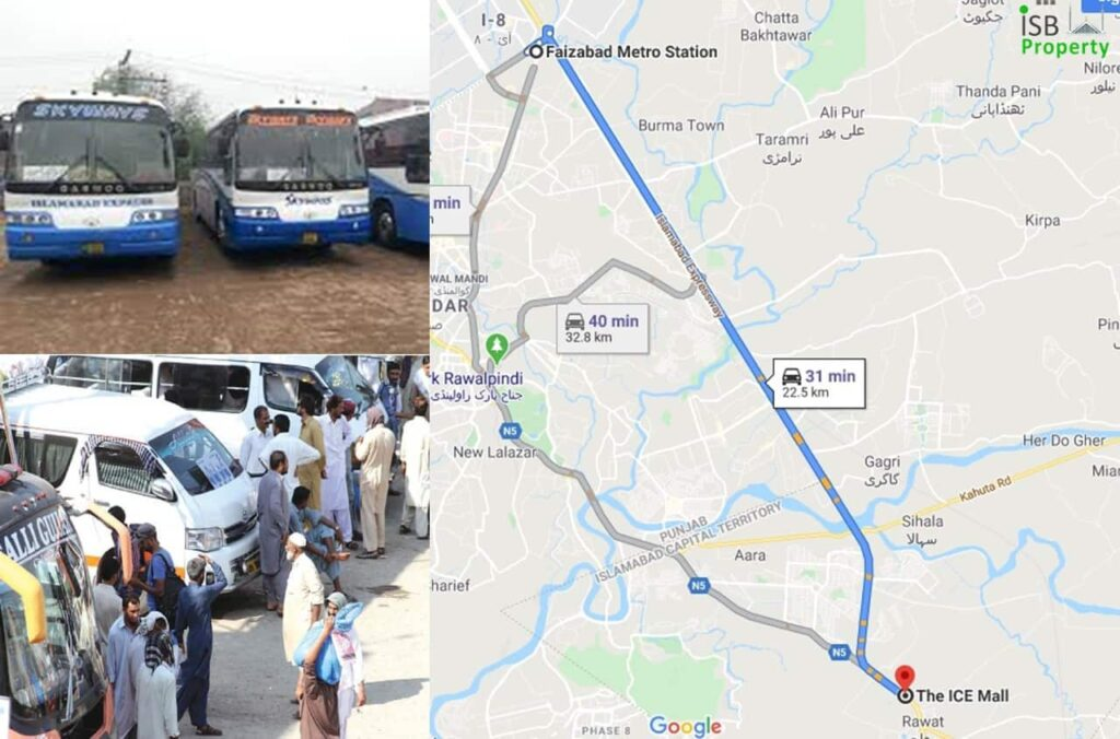 Ice Mall to Faizabad Bus Station