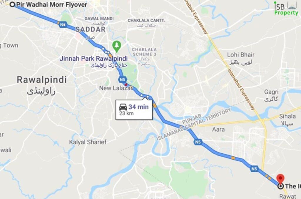 Ice Mall to Rawalpindi Bus Stand