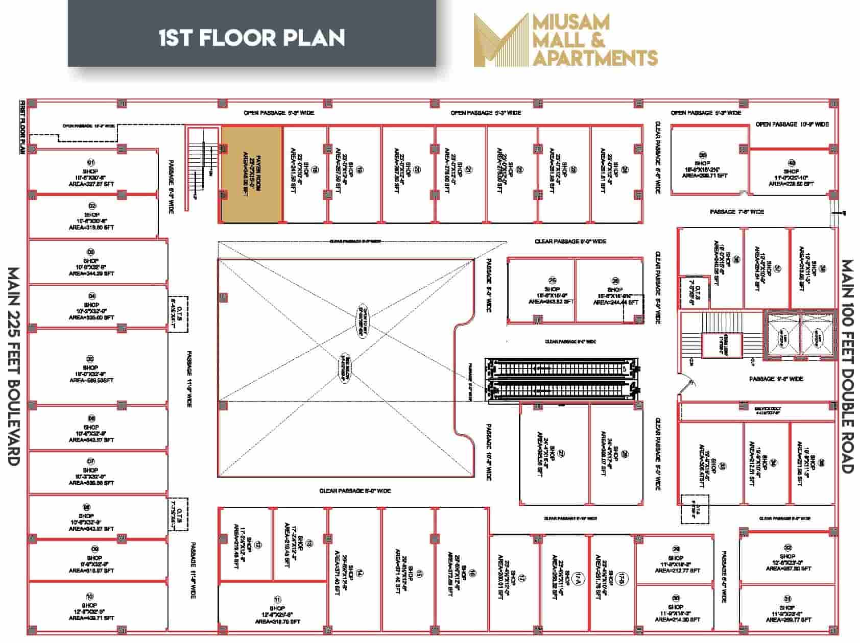 Miusam Mall 1st Floor Plan-min