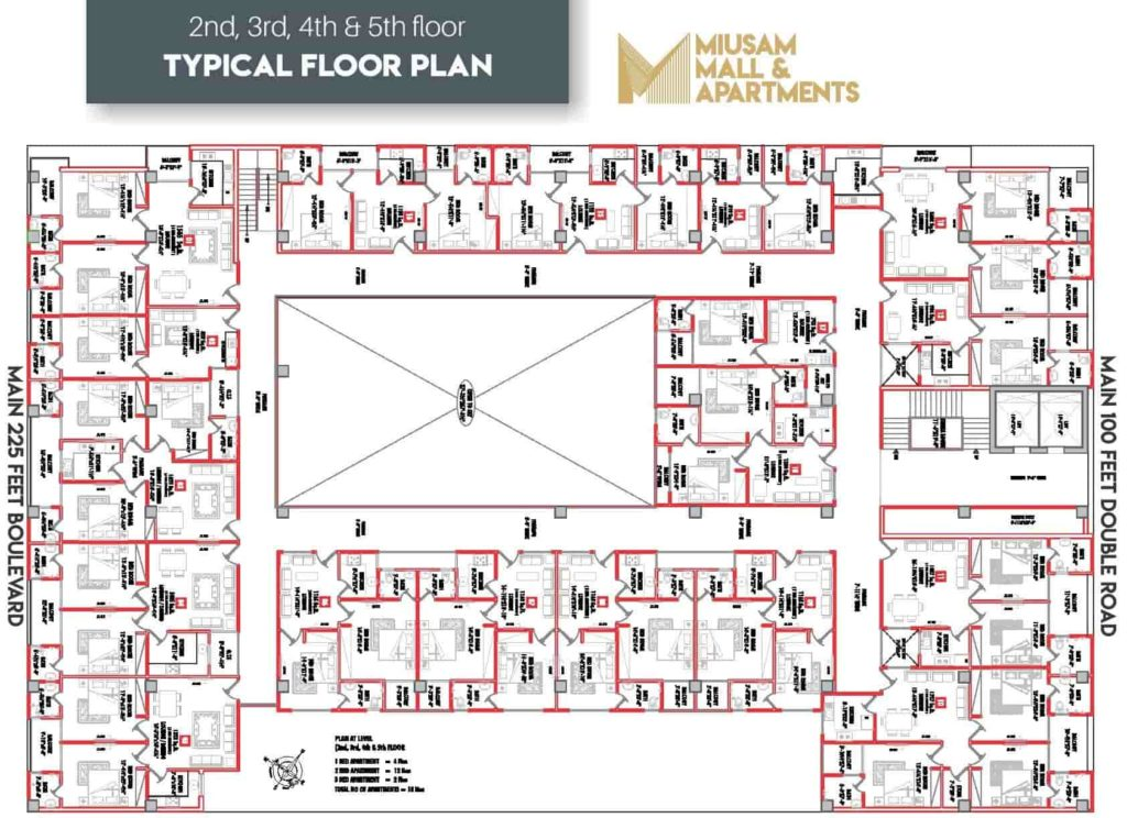 Miusam Mall 2nd to 5th Floor Plan-min