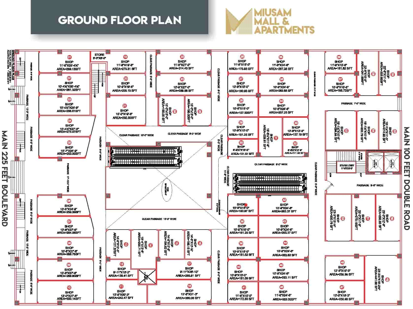 Miusam Mall Ground Floor Plan-min