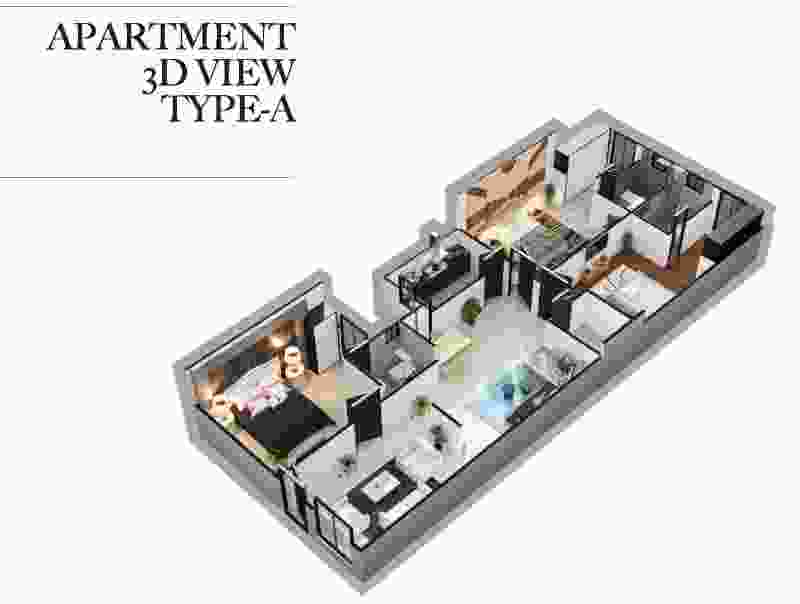 Zeta 1 Mall 2 Bed Apartment A