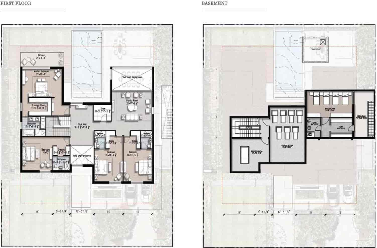 Eighteen 2 Kanal Villa Plan A 2