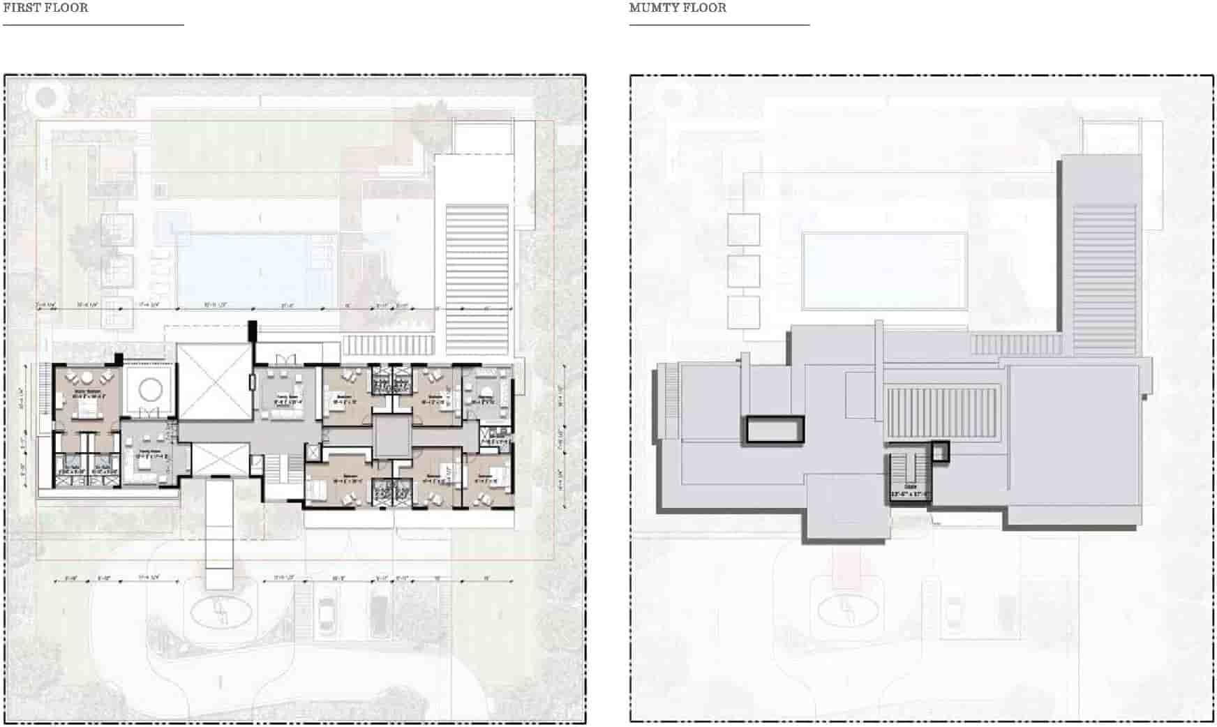 Eighteen 8 Kanal Villa Layout Plan 2