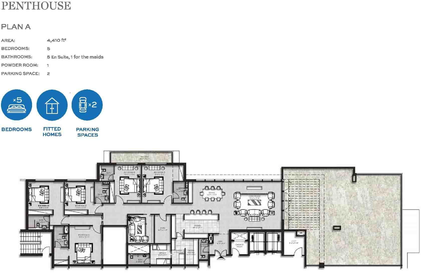 The Heights Eighteen Penthouse Layout Plan A