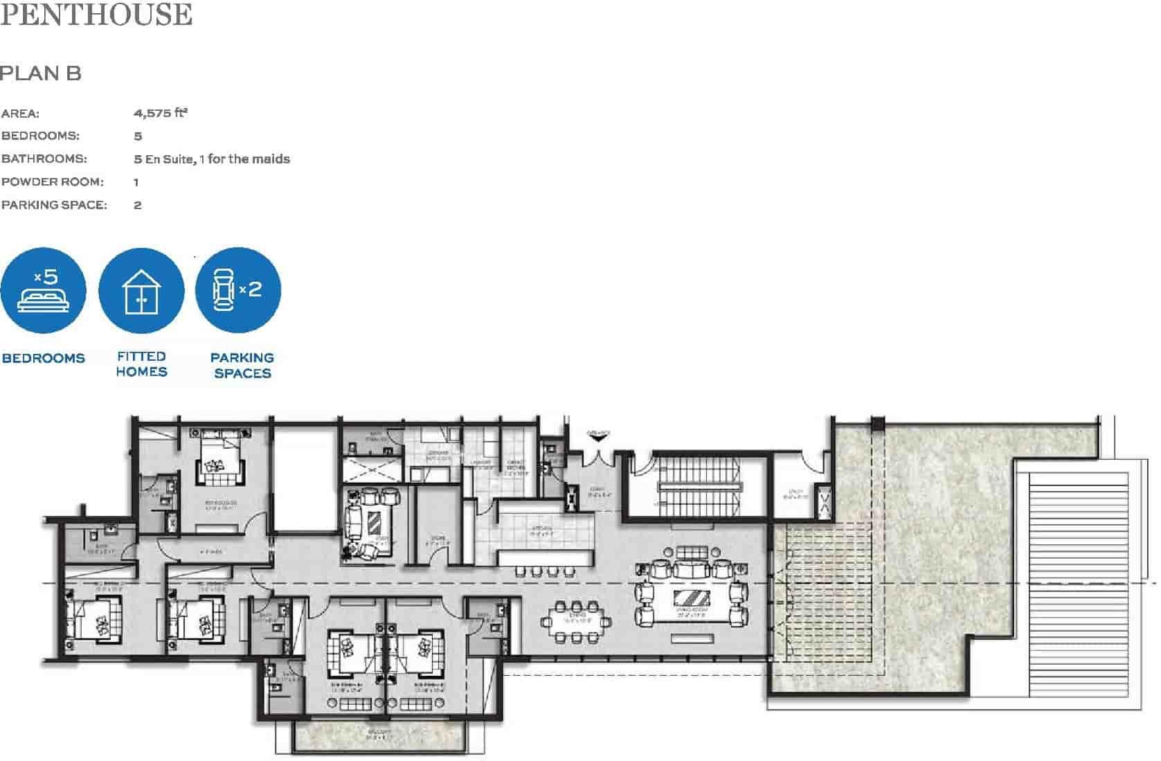 The Heights Eighteen Penthouse Layout Plan B