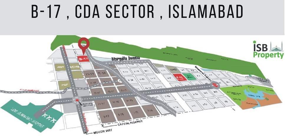 B-17 Islamabad Map