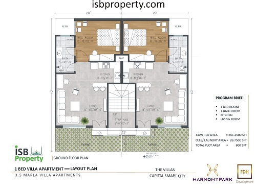 Capita Smart City 3.5 Villa Apartment Floor Plan