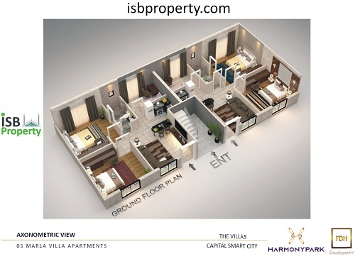 Capita Smart City 5 Marla Villa Apartment Layout