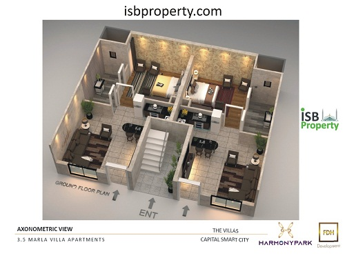 Capital Smart City 3.5 Marla Villa Apartment Layout