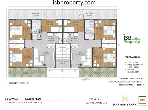 Capital Smart City 5 Marla Villa Apartment Floor Plan
